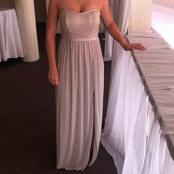 David S Bridal Dresses Metallic Gold Bridesmaid Dress Poshmark